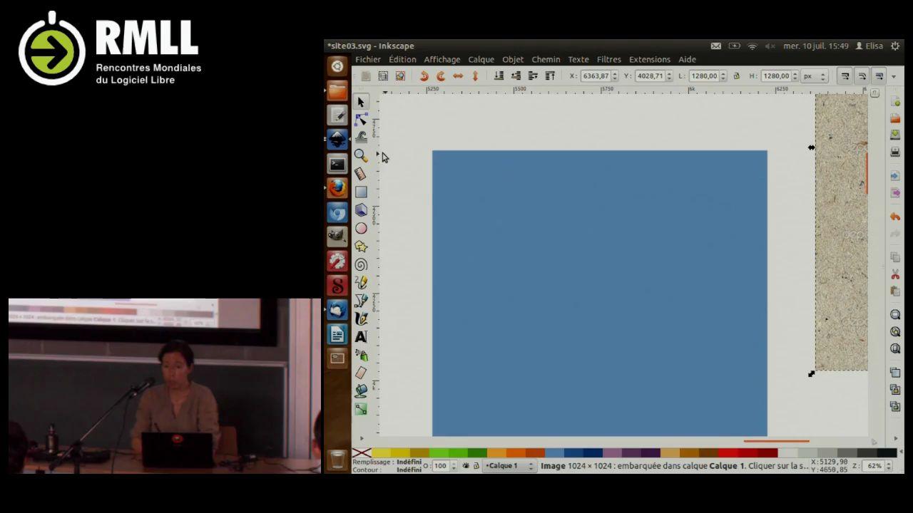 Webdesign de A à Z avec Inkscape - RMLL - Web TV